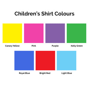Children's Ridding Camp Tshirt colours