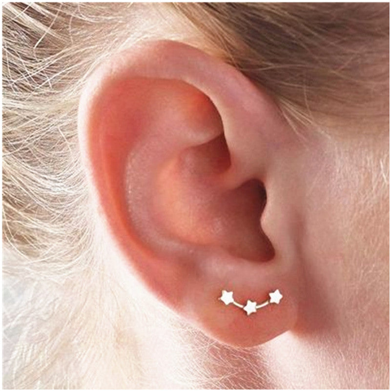 Three Star Earrings