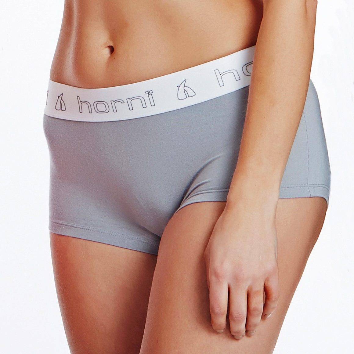 Ladies' Grey Boxer Shorts