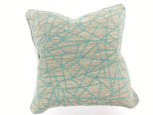 Custom Tangent Lines Welted Pillow