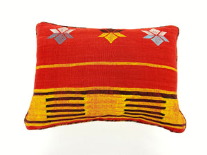 Vintage Rug Orange/Red Southwest Pillow