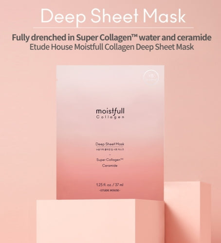This ETUDE HOUSE sheet mask is fully drenched in super Collagen.