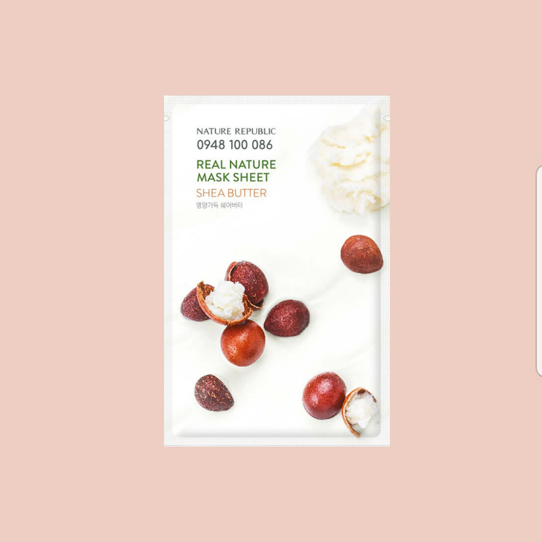 NATURE REPUBLIC - Real Nature Shea Butter Sheet Mask