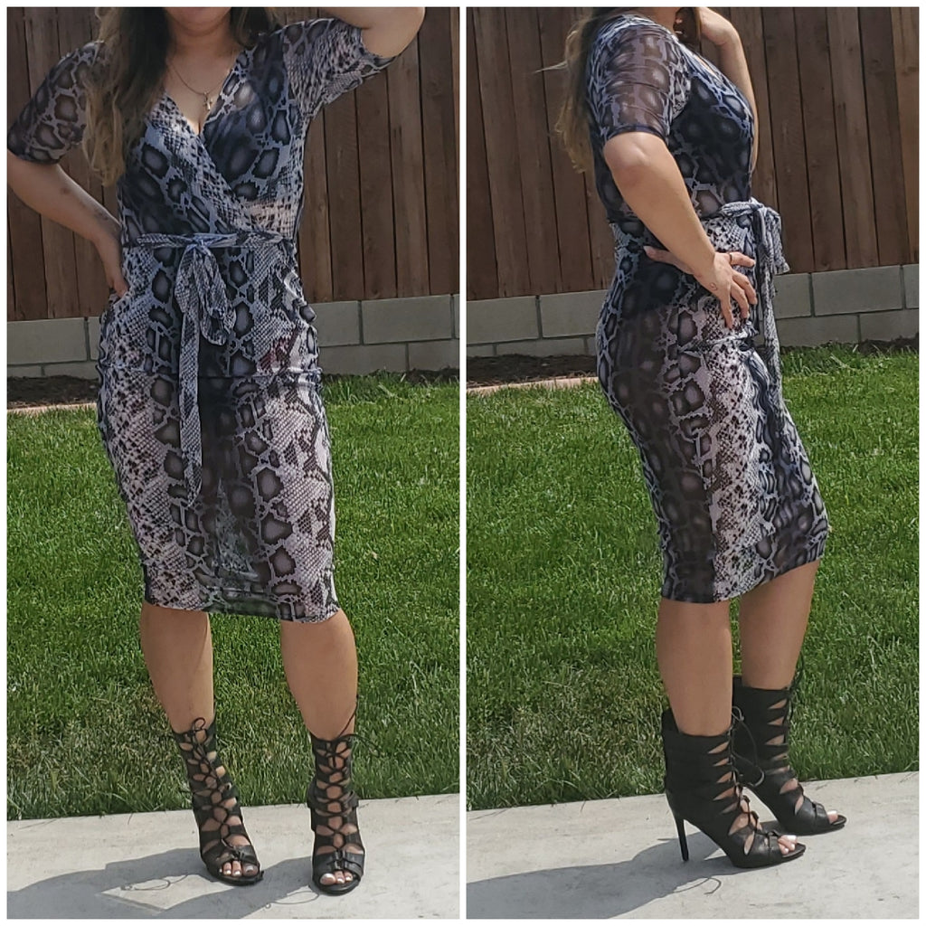 Slayed dress - Luxor Boutique