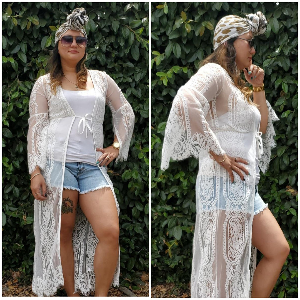 Laced Cardigan - Luxor Boutique