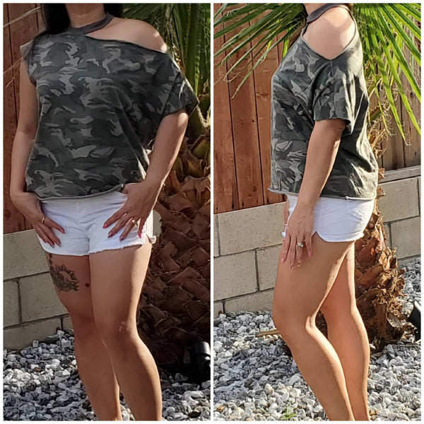 Camo Top - Luxor Boutique