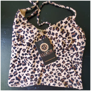 Leopard crop top - Luxor Boutique