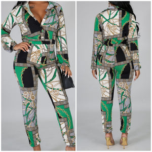 Chained jumpsuit - Luxor Boutique
