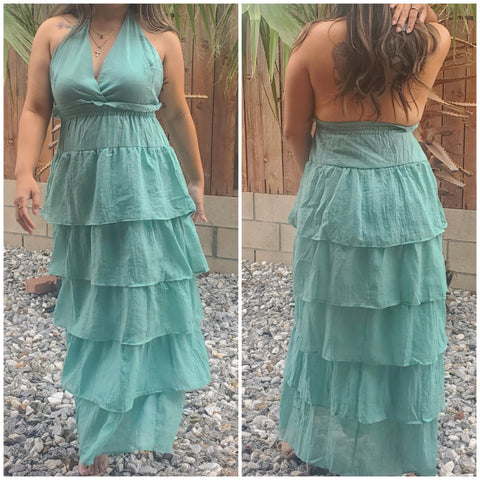 Ruffled maxi dress - Luxor Boutique
