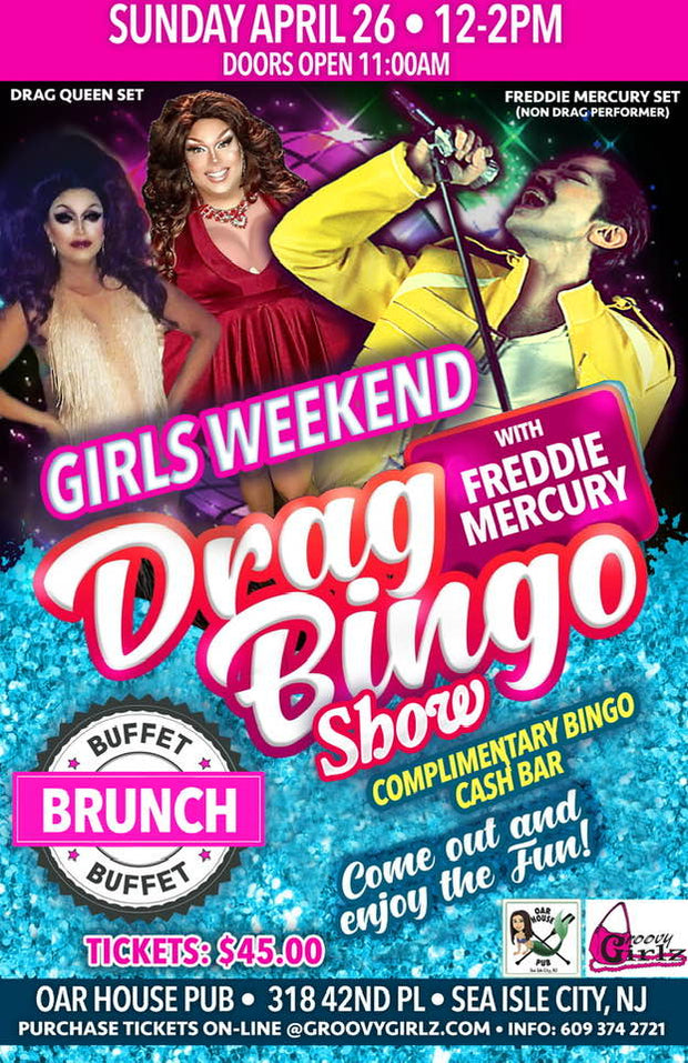 GIRLS WEEKEND DRAG QUEEN SHOW ALSO A FREDDIE MERCURY IMPERSONATOR