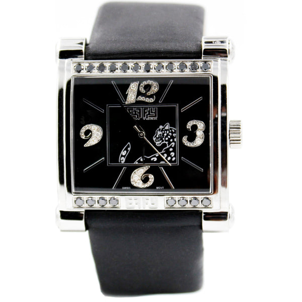 Effy Panther 0.77 ct Diamond Black Dial Unisex Watch