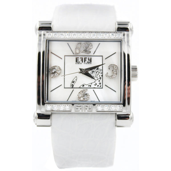 Effy Panther 0.77 ct Diamond Mother-of-Pearl Dial Unisex Watch
