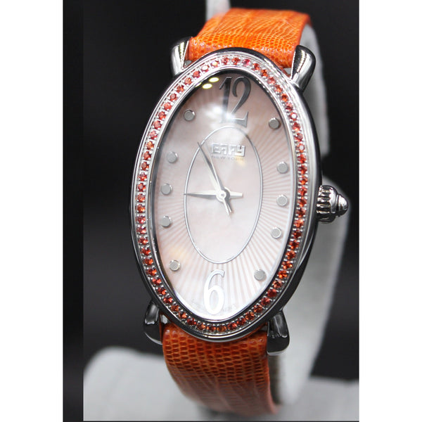 Effy Lady Linda Orange Sapphires Mother-of-Pearl Dial Ladies Watch