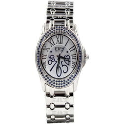 Effy Hudson Blue Sapphire Mother-of-Pearl Dial Watch