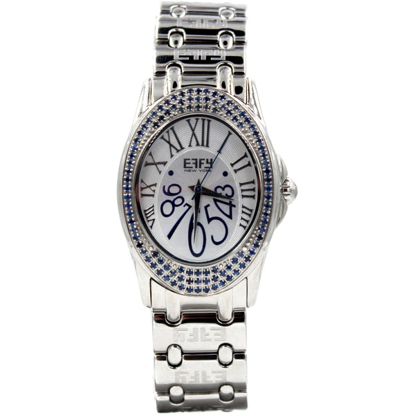 Effy Hudson 1.00 ct Blue Sapphire Mother-of-Pearl Dial Watch