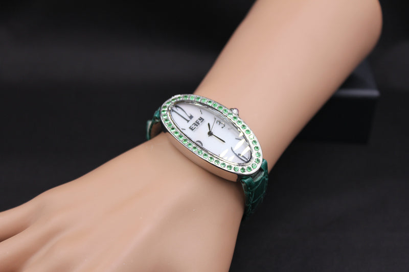 Effy Liberty Tsavorite Mother-of-Pearl Dial Watch