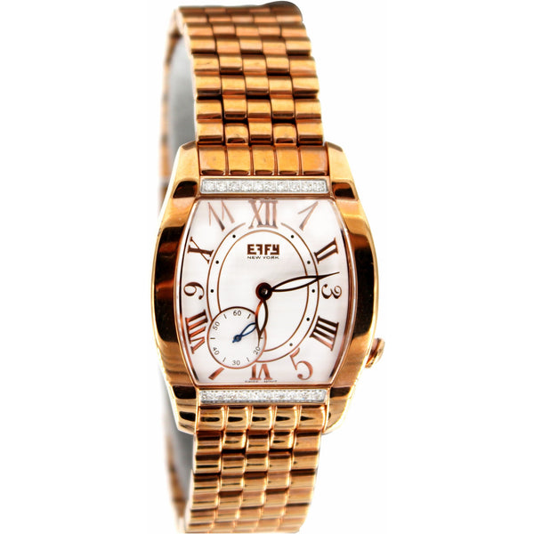 Effy Royal Diamond Golden White Dial Unisex Watch