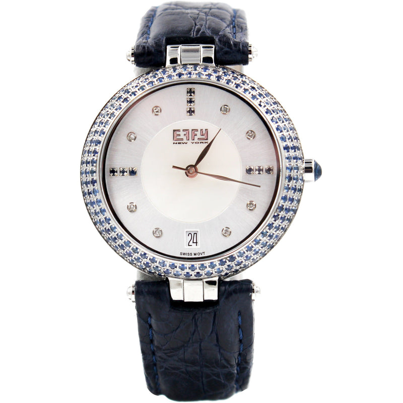 Effy Chrysler Blue Sapphire Mother-of-Pearl Dial Unisex Watch