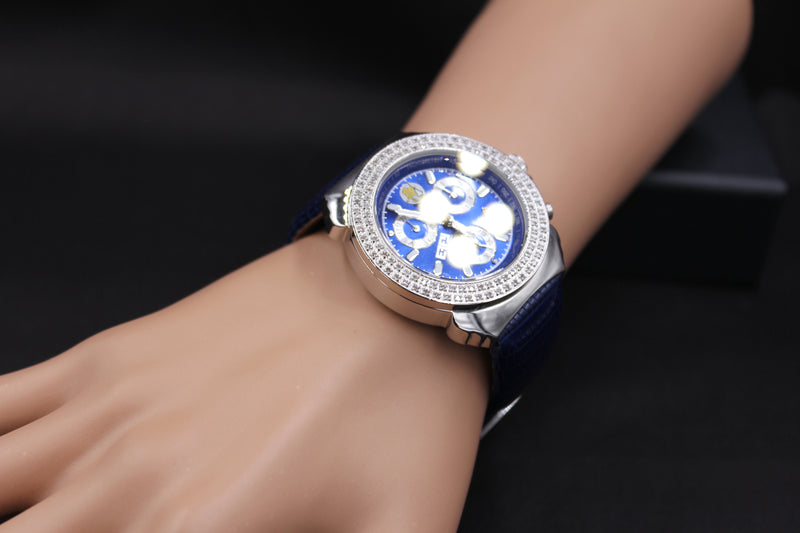 Effy Diamond Blue Dial Unisex Watch