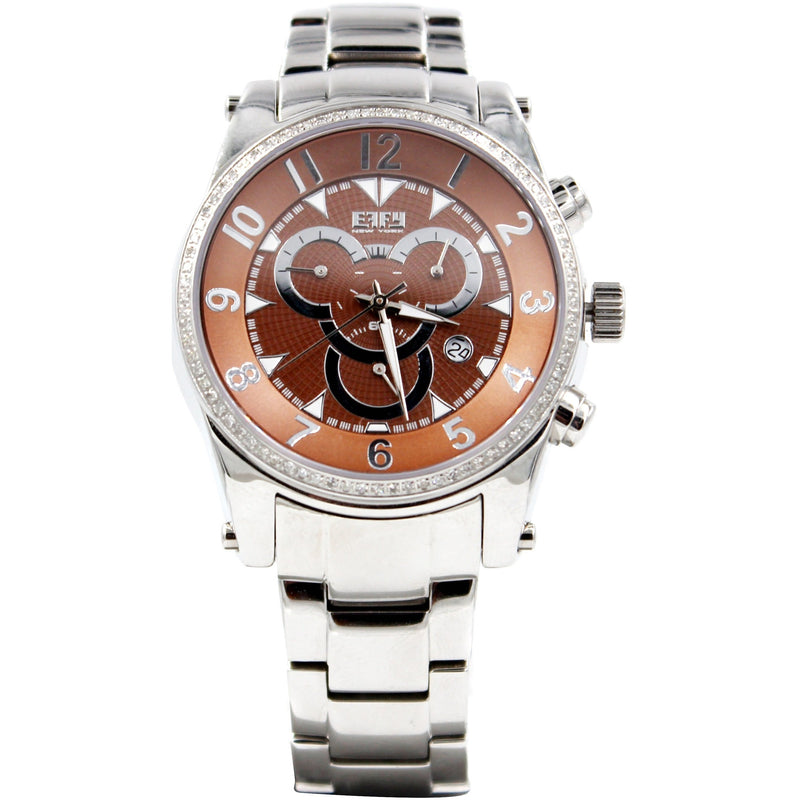 Effy Chrono 0.64 ct Diamond Brown Dial Watch