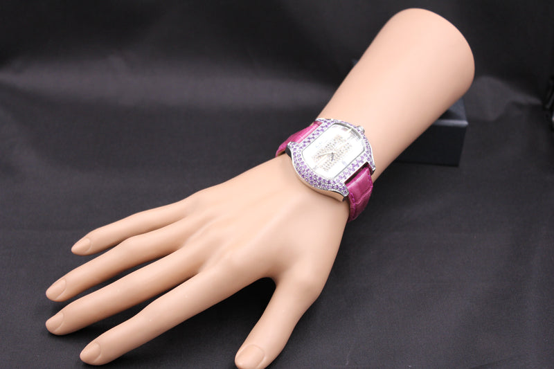 Effy So-Ho Diamond & Amethyst Mother-of-Pearl Dial Unisex Watch