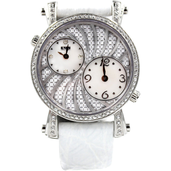 Effy Fashion Wave Diamond Mother-of-Pearl Dial Unisex Watch