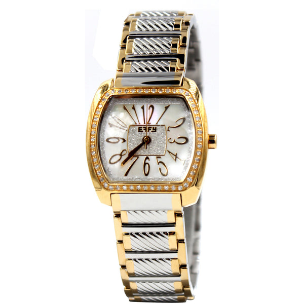 Effy Silver and Gold Diamond Watch