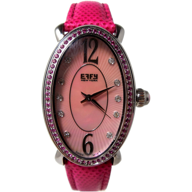 Effy Lady Linda Pink Sapphires Mother-of-Pearl Dial Ladies Watch