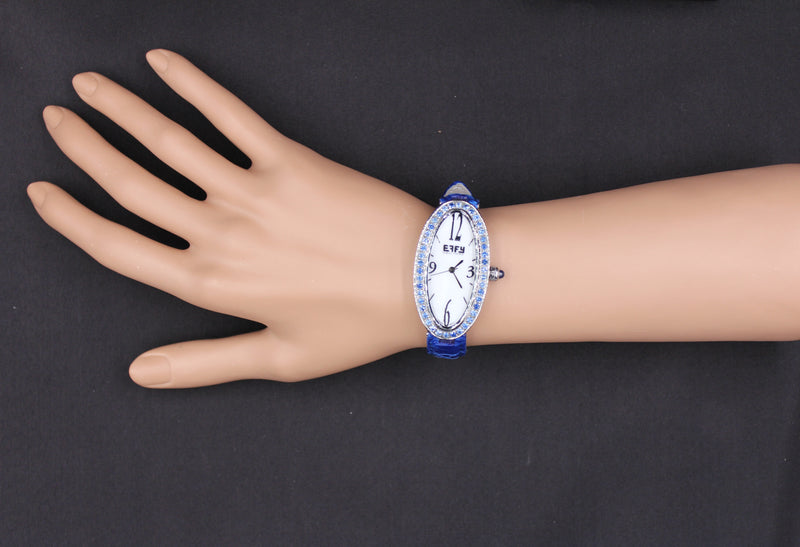 Effy Liberty Blue Sapphire Mother-of-Pearl Dial Ladies Watch