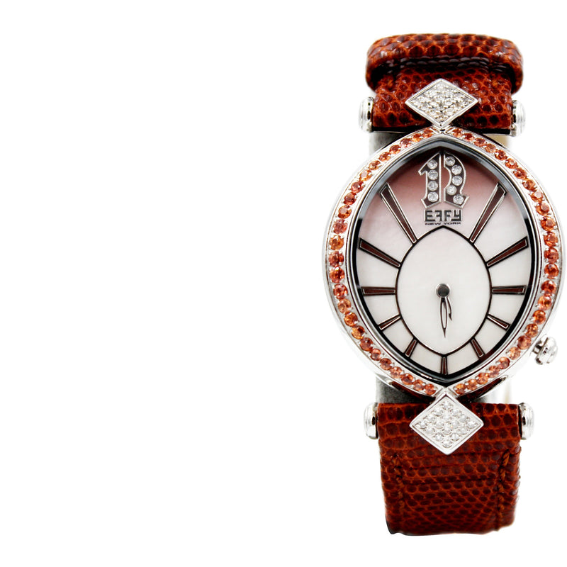 Effy Diamond & Orange Sapphire Watch