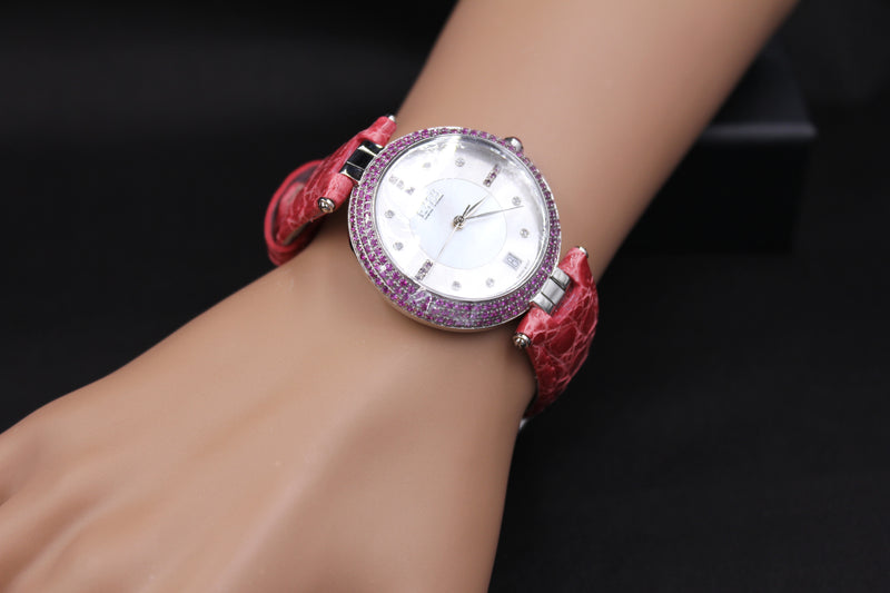 Effy Chrysler Pink 2.52 ct Sapphire Mother-of-Pearl Dial Ladies Watch