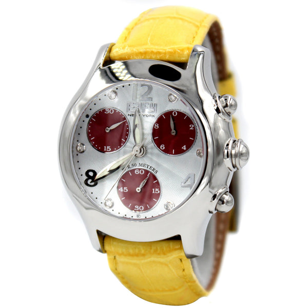 Effy Yellow Central Park Diamond Mother-of-Pearl Dial Unisex Watch