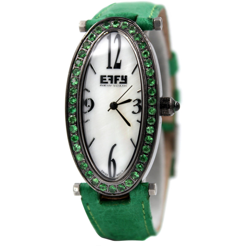 Effy Liberty Tsavorite Mother-of-Pearl Dial Unisex Watch