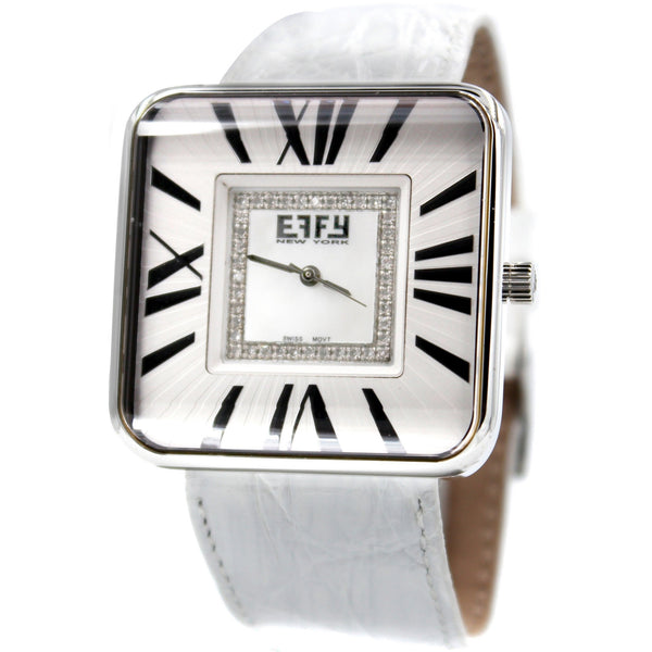 Effy Union Square 0.24 ct Diamond Mother-of-Pearl Dial Unisex Watch