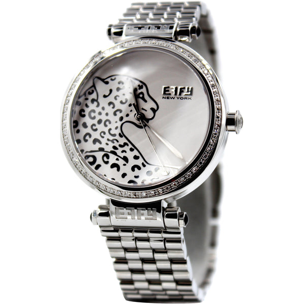 Effy Panther Diamond White Dial Unisex Watch