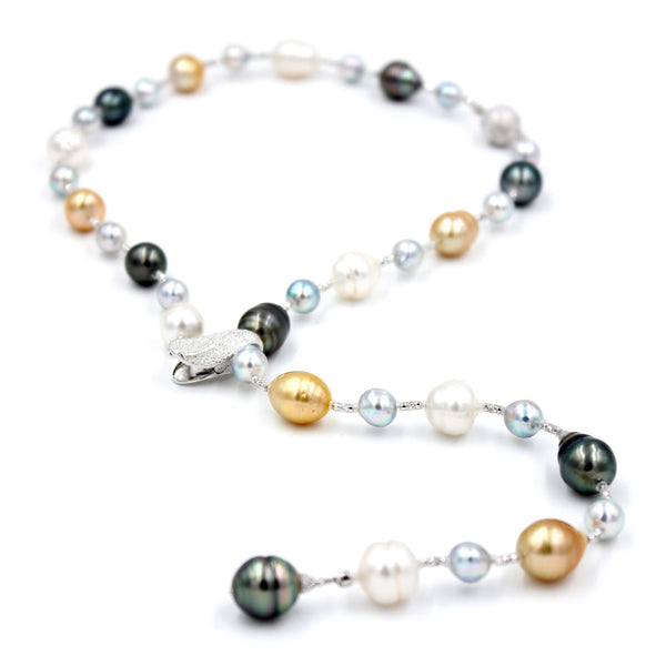 Colourful South Sea Pearl Necklace/Bracelet Combination