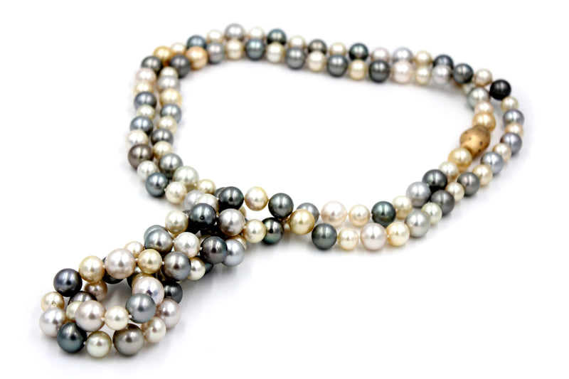 Luxury Multi-Color South Sea Pearl Necklace