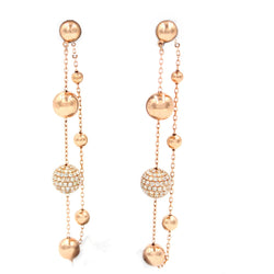 Golden Globes Spheres Diamond Earrings