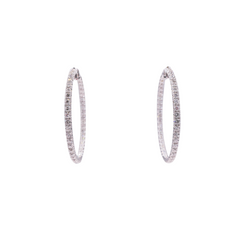 Fancy Diamond Hoop Earrings