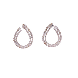 Two Row Pear Diamond Earrings