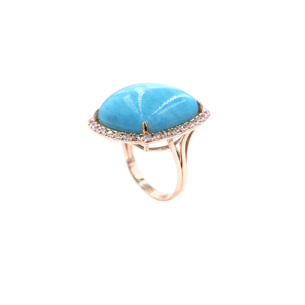 Amazonite & Diamond Ring