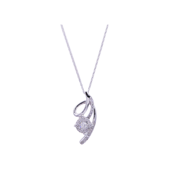 0.33 CT Round Diamond Pendant