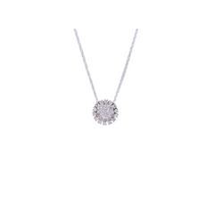 Round Flower Diamond Pendant