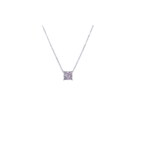0.25 CT Square Diamond Pendant