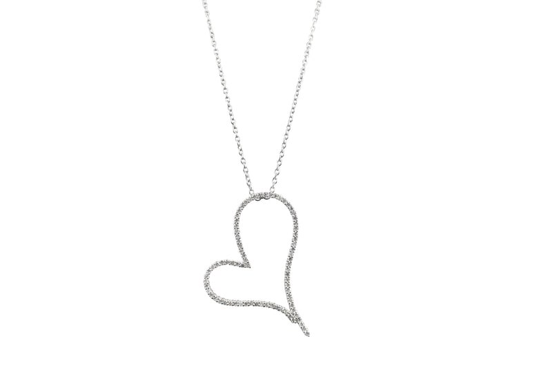 Heart-Shape Diamond Pendant