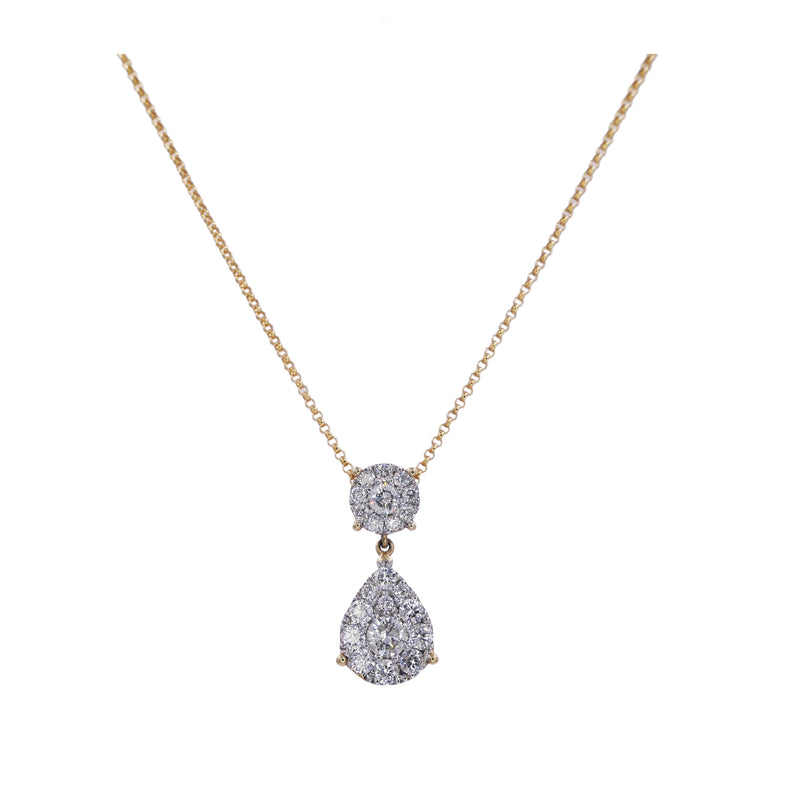 Dangle Drop Diamond Pendant