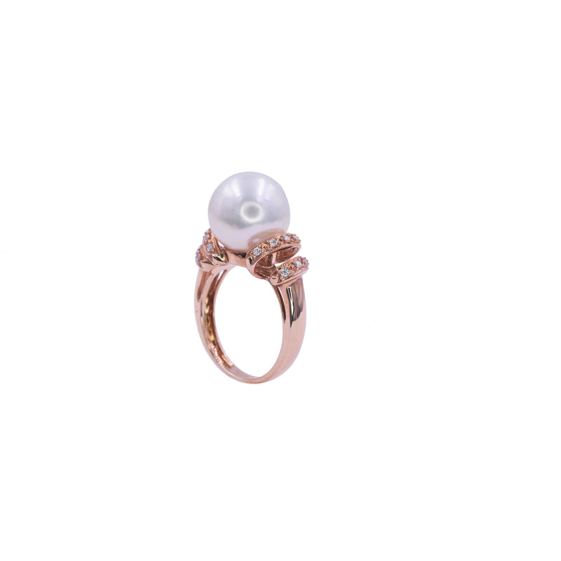 Art Deco South Sea Pearl Ring