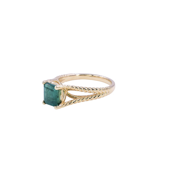 Emerald Rope Ring