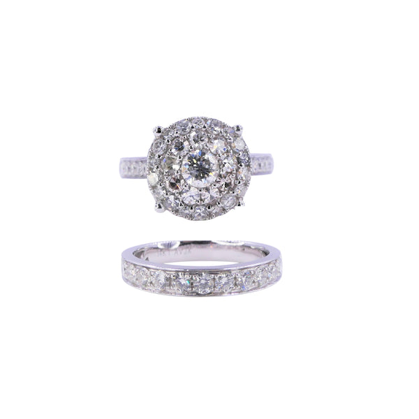 2.0 CT Round Diamond Bridal Set