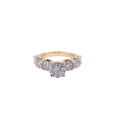 Yellow Gold Round Diamond Ring
